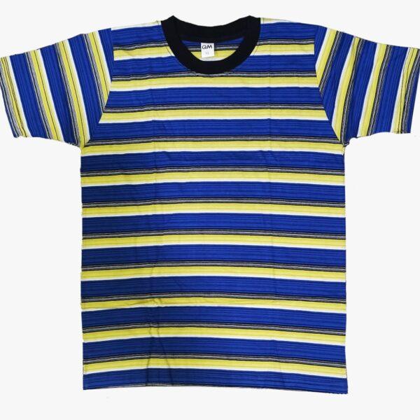 yellow blue black color t shirt
