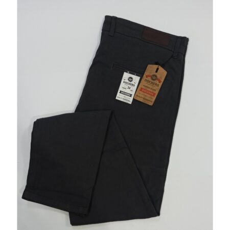 Dark grey- cotton jeans-semi frmal pants-dockers-leftovers export quality pants-semi casual pants-branded pants-online office pants-big size pants-solid color pants-calibre