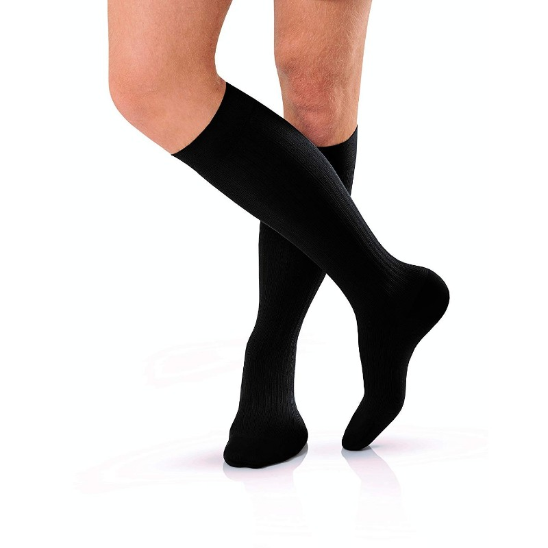 RIB cotton extra stretch Crew Cotton socks black comfortable