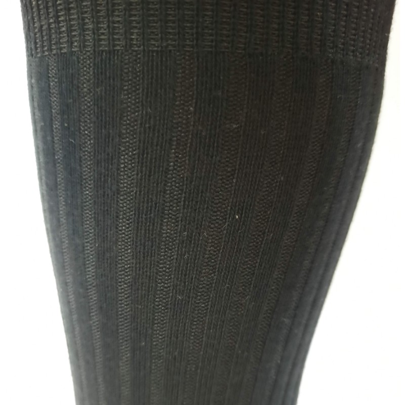 RIB cotton extra stretch Crew Cotton socks black comfortable1