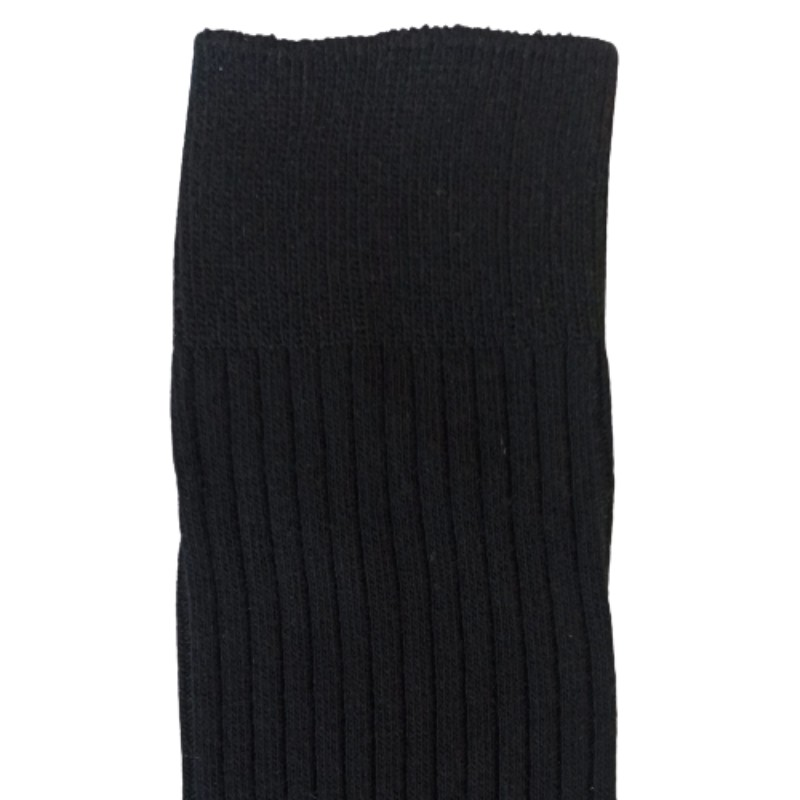 RIB cotton extra stretch Crew Cotton socks black comfortable2
