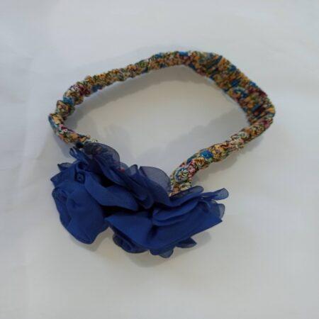 hairband-fabric elasticated handmade hair band-stretchable hairband-flower head