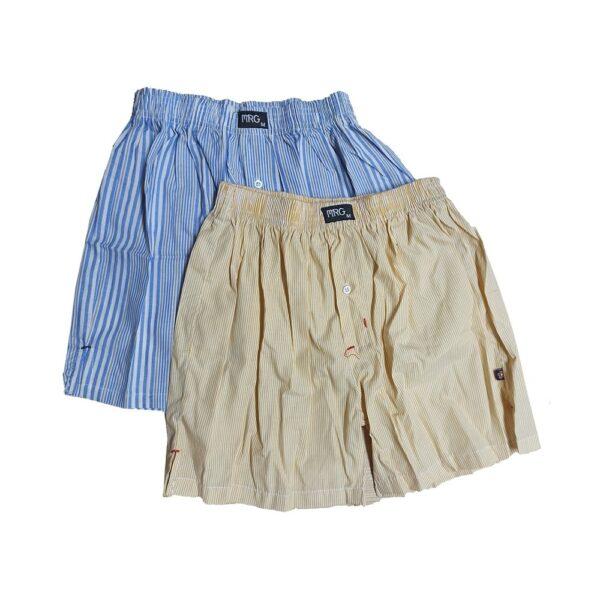 Pack of 2, Men Woven Cotton Long Shorts