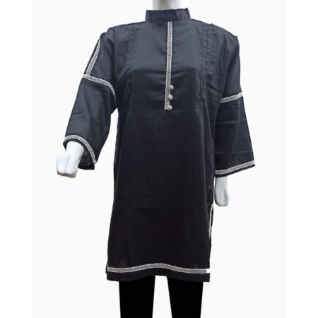 Female Latest black-khaddar-kurti-pakistan