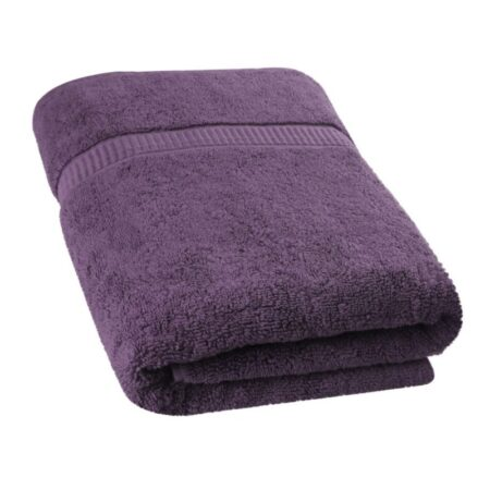 dark purple ultra soft terry viscose cotton branded towels by towel showel