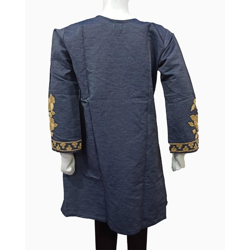 heavy-Denim-ark-embroidery-tilla-work-patch-frock-ghagra-design-female-denim-designs