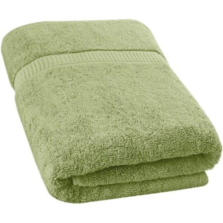 olive green ultra soft terry viscose cotton branded towels by towel showel (3)