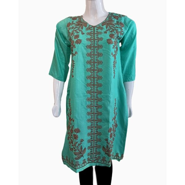 ;atest Female stiched Collection zinc-linen-kurti-embroidered