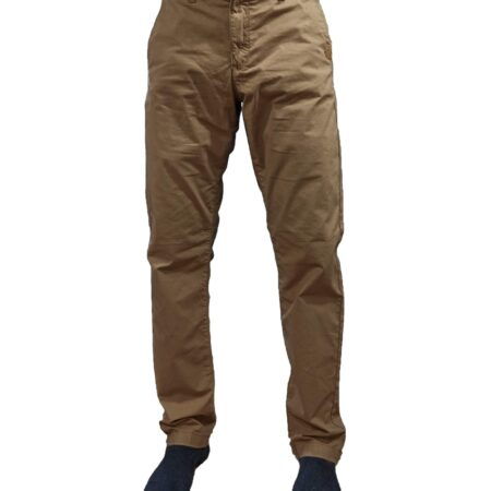 Skin Color Cotton Jeans Pants
