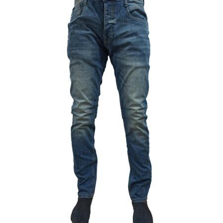 slim fit branded blue pants