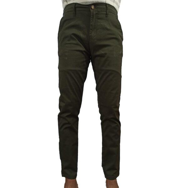 Sea Green Cotton Jeans