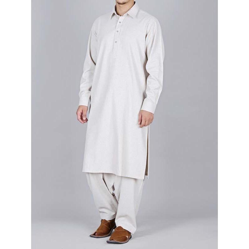 off white shalwar kameez